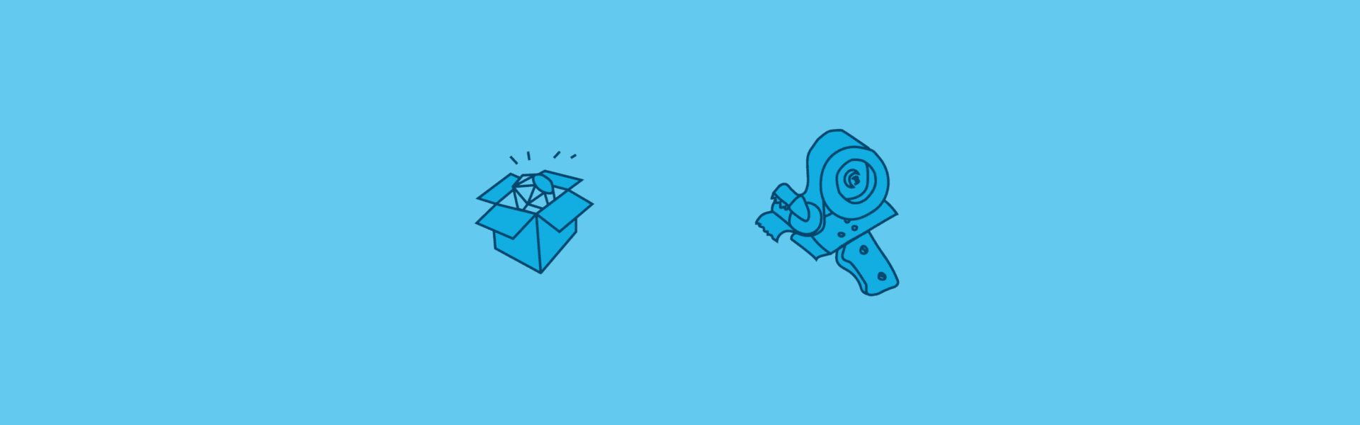 Two illustrations from the Bundler website. One signifies installing a Ruby gem and the other Bundler itself.