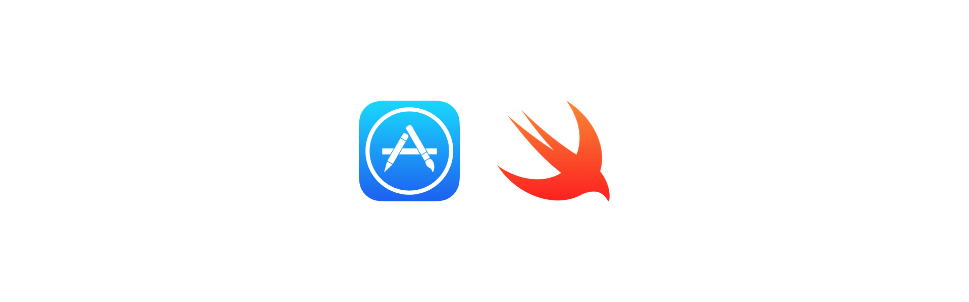 The App Store and Swift logos